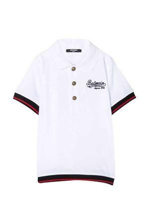 Balmain Kids white teen polo shirt  BALMAIN KIDS | 2 | 6O8550OX390100T