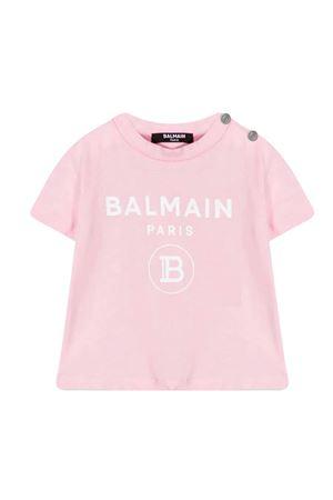 T-shirt con stampa Balmain kids BALMAIN KIDS | 8 | 6O8A21OX390515BC
