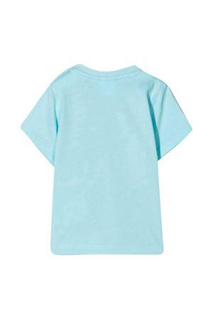T-shirt azzurra con stampa bianca Boss kids BOSS KIDS | 8 | J05831748