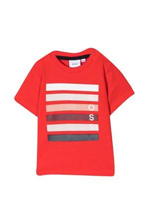 T-shirt rossa con stampa  Boss kids BOSS KIDS | 8 | J05838997