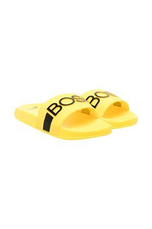 Ciabatte gialle con logo nero Boss kids BOSS KIDS | 11041766 | J29246553