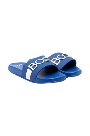 Ciabatte blu con dettagli bianchi Boss kids BOSS KIDS | 11041766 | J29246871