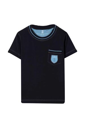 Brunello Cucinelli kids blue t-shirt  Brunello Cucinelli Kids | 1169408113 | B0B13T102CO198
