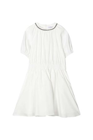 Brunello Cucinelli Kids white dress  Brunello Cucinelli Kids | 11 | B0F79A001C600