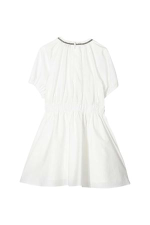 Brunello Cucinelli Kids white teen dress  Brunello Cucinelli Kids | 11 | B0F79A001C600T