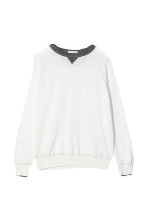 Sweatshirt with contrasting edge Brunello Cucinelli kids Brunello Cucinelli Kids | 1169408113 | B29M13530CD253
