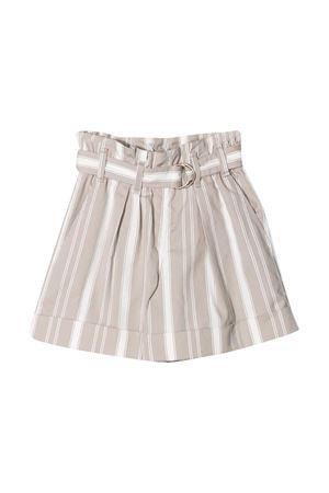 Shorts a righe beige Brunello Cucinelli kids Brunello Cucinelli Kids | 9 | BF788P032CE501