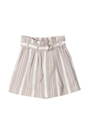 Shorts a righe beige teen Brunello Cucinelli kids Brunello Cucinelli Kids | 9 | BF788P032CE501T