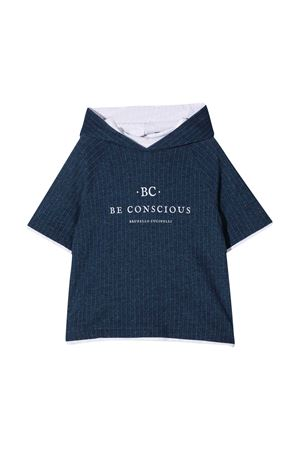 Felpa blu teen Brunello Cucinelli kids con cappuccio Brunello Cucinelli Kids | 5032280 | BH228E122C006T
