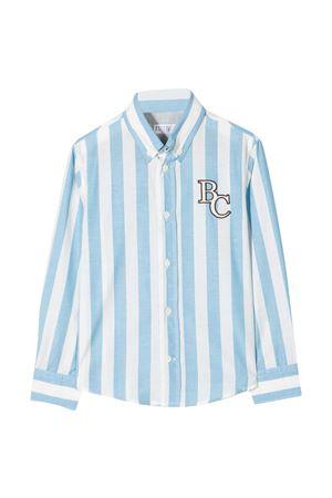 Camicia bianca teen Brunello Cucinelli kids a righe celesti Brunello Cucinelli Kids | 5032334 | BW659C370C001T