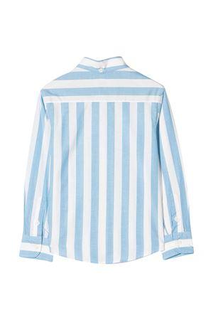 Camicia bianca Brunello Cucinelli kids a righe celesti Brunello Cucinelli Kids | 5032334 | BW659C370C001