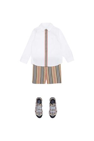 White shirt with frontal stripe Burberry kids BURBERRY KIDS | 5032334 | 8030103A1464