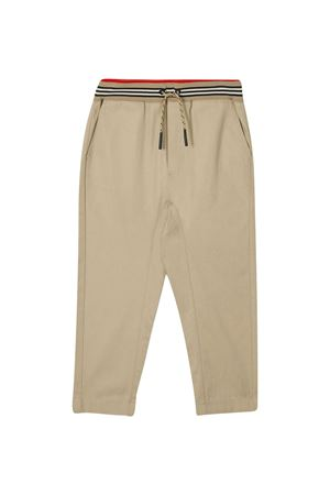 Pantaloni beige Burberry kids BURBERRY KIDS | 9 | 8030128A1366