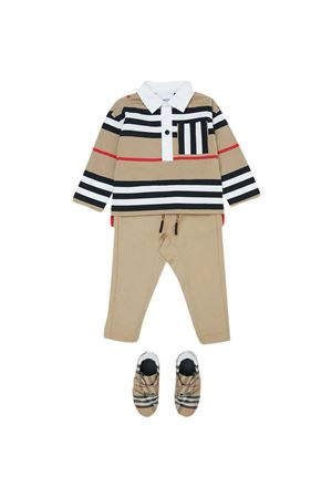 Beige trousers Burberry kids  BURBERRY KIDS | 9 | 8030129A1366