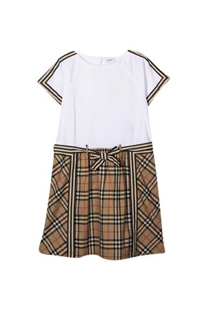 White teen dress Burberry Kids  BURBERRY KIDS | 11 | 8033572A7028T