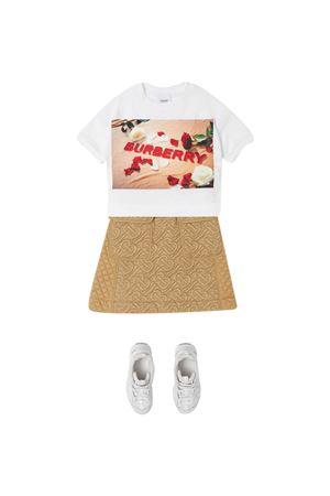 Burberry Kids white teen t-shirt BURBERRY KIDS | 8 | 8036910A1464T