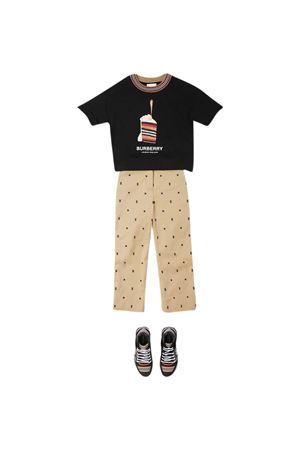 T-shirt nera teen Burberry Kids BURBERRY KIDS   8   8036920A1189T