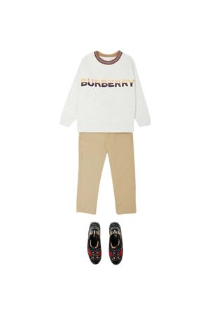 Felpa bianca teen Burberry Kids BURBERRY KIDS | -108764232 | 8036927A4807T