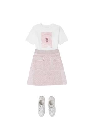 T-shirt bianca teen Burberry Kids BURBERRY KIDS | 8 | 8036935A1464T