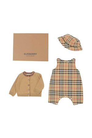 Set neonato tre pezzi con motivo Burberry kids BURBERRY KIDS | 75988882 | 8038457A7028