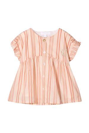 Vestito rosa Chloé kids a righe CHLOÉ KIDS | 6 | C05369Z44