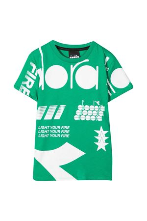 Diadora Junior teen green t-shirt  DIADORA JUNIOR   8   026978080T