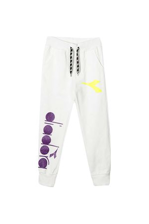 Diadora kids white teen joggers DIADORA JUNIOR | 9 | 027328002T
