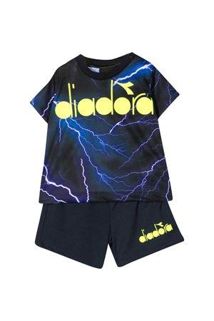 Black fluo Diadora kids set DIADORA JUNIOR | 42 | 027419060