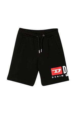 Black Diesel Kids sport shorts  DIESEL KIDS   30   J000850IAJHK900