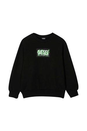 Felpa nera Diesel Kids DIESEL KIDS | -108764232 | J000980IAJHK900