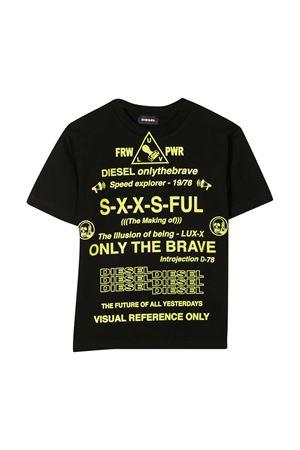 T-shirt nera Diesel Kids DIESEL KIDS | 8 | J0010500YI9K900