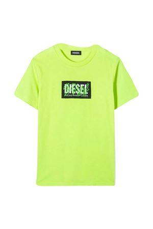 Fluorescent green Diesel kids t-shirt  DIESEL KIDS | 8 | J0011200YI9K51B