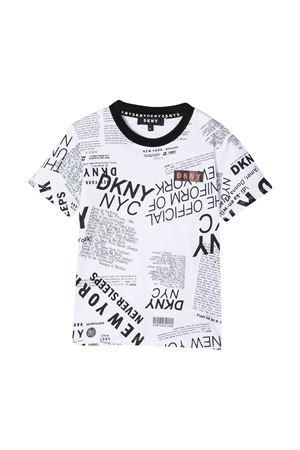 White t-shirt teen Dkny Kids  DKNY KIDS | 8 | D25D30N50T