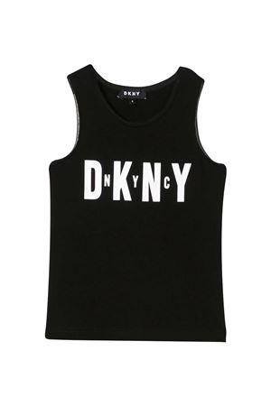 Black Dkny Kids tank top  DKNY KIDS | 485524886 | D35R2109B