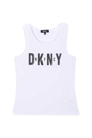 Canotta bianca teen Dkny Kids DKNY KIDS | 485524886 | D35R2110BT