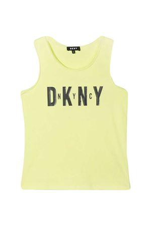 Yellow Dkny Kids tank top  DKNY KIDS | 485524886 | D35R2160B