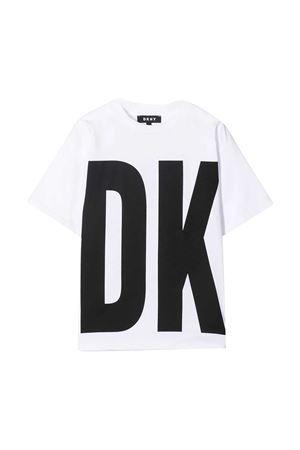 White t-shirt teen Dkny Kids  DKNY KIDS | 8 | D35R3210BT