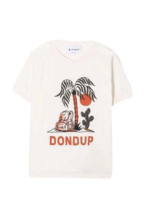 Dondup Kids white t-shirt  DONDUP KIDS | 8 | DMTS56JE138WD0270011