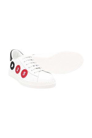 Sneakers bianche con applicazioni Dsquared kids DSQUARED2 KIDS | 12 | 669142