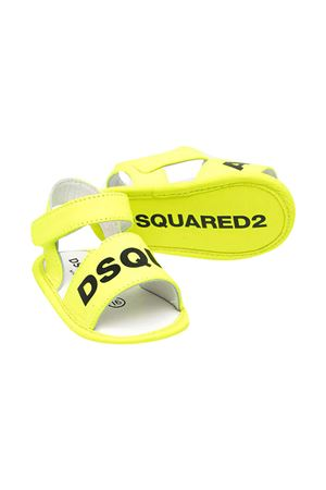 Sandali gialli con logo nero Dsquared kids DSQUARED2 KIDS | 5032315 | 669512
