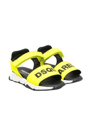 Sandali gialli e neri con logo Dsquared kids DSQUARED2 KIDS   5032315   66961VAR9