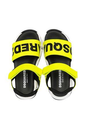 Sandali gialli e neri con logo Dsquared kids DSQUARED2 KIDS | 5032315 | 670211