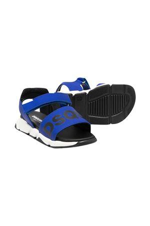Sandali blu e neri con logo Dsquared kids DSQUARED2 KIDS   5032315   670212