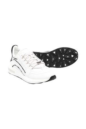 Sneakers bianche con dettagli neri Dsquared kids DSQUARED2 KIDS | 12 | 67049VAR2