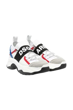 White sneakers Dsquared2 kids.