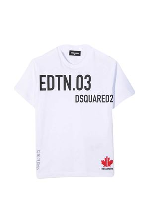 White t-shirt Dsquared2 Kids DSQUARED2 KIDS | 8 | DQ0030D00MMDQ100