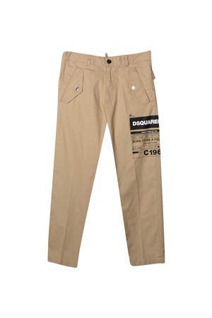 Beige trousers teen Dsquared2 kids DSQUARED2 KIDS   9   DQ0076D005SDQ710T