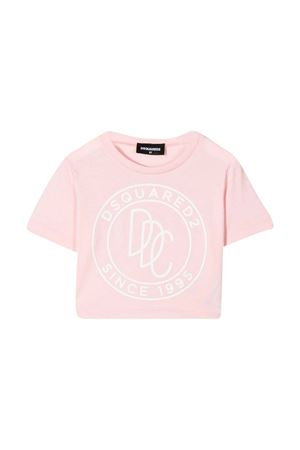 T-shirt rosa con stampa teen Dsquared2 Kids DSQUARED2 KIDS | 7 | DQ0100D00A8DQ316T