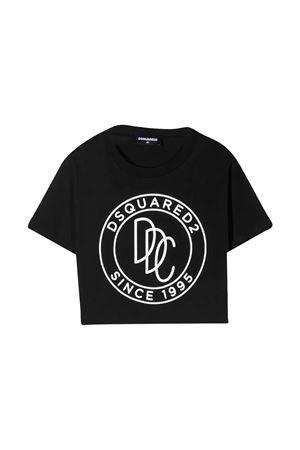 Black t-shirt teen Dsquared2 Kids DSQUARED2 KIDS | 7 | DQ0100D00A8DQ900T