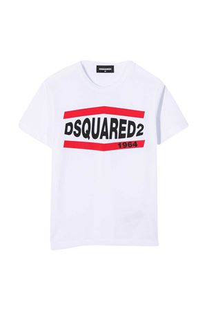 T-shirt bianca teen Dsquared2 Kids DSQUARED2 KIDS | 7 | DQ0150D002FDQ100T